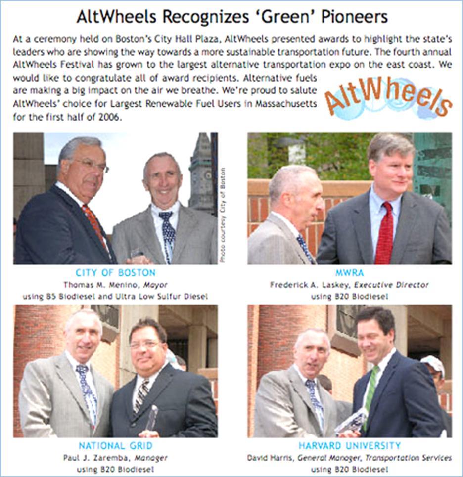 AltWheels recognizes green pioneers