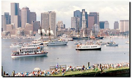 Cityscape picture of Boston Marina