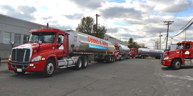 Dennis K Burke refueling trucks in a convoy