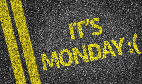 It's Monday :( overlaid on asphault