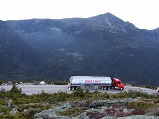 Dennis K Burke fueling Mount Washington