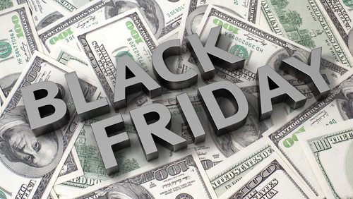 Black Friday overlaid on dollars