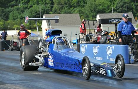 PESA dragster at the starting line