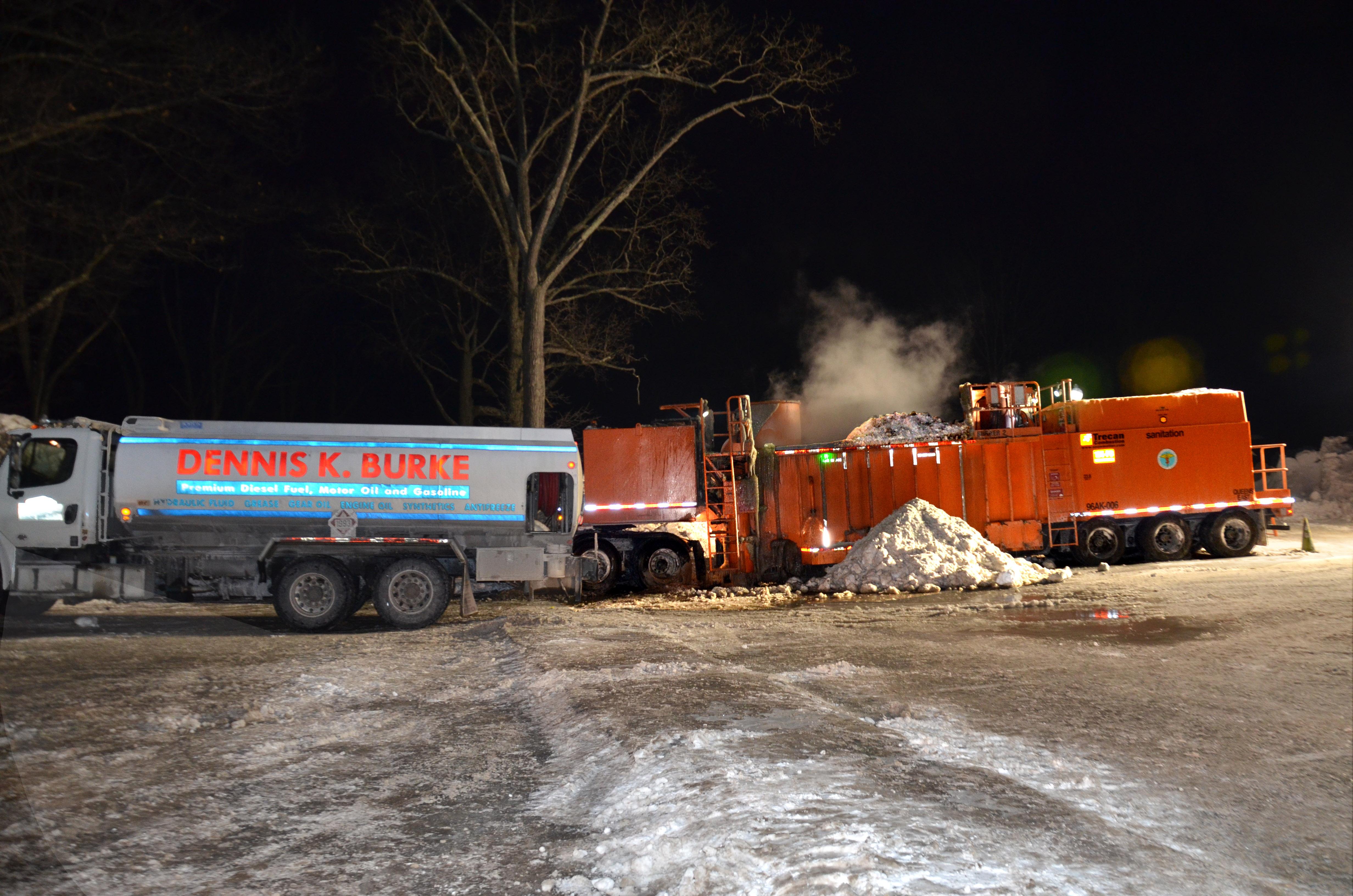 Dennis K Burke Fueling NY Snow Melters in Boston's Record Snowfall