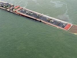 Sinking barge