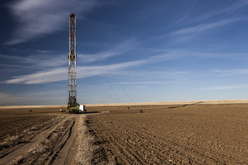 Oil drill in a field
