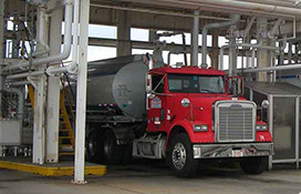 Dennis K Burke Fuel Services - Fuel Truck at Terminal Rack