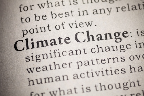 Climate change definition in a dictionary